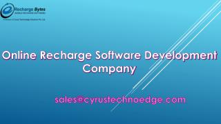 B2B & B2C Mobile Recharge White Label Software Company