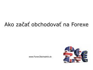 Forex obchodovanie