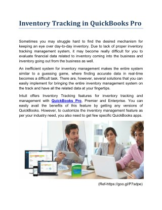 Advantages of Tracking Inventory with QuickBooks Pro