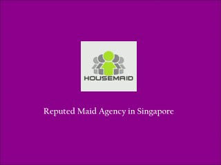 Maids in Singapore