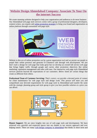 Website Design Ahmedabad Company: Associate To Your On the internet Success