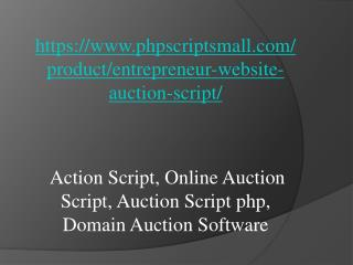 Action Script, Online Auction Script, Auction Script php, Domain Auction Software