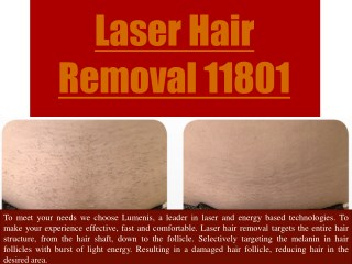 Laser Hair Removal 11801