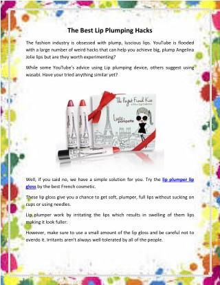 Best Lip Plumping Lip Gloss available Online