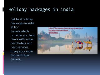 Holiday packages in india.mp4
