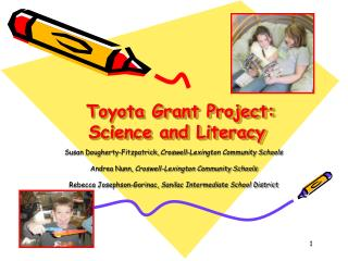 Toyota Grant Project: Science and Literacy