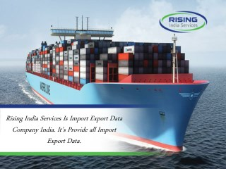 Indian Import Export Data By Rising India Service