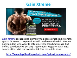 Gain Xtreme Muscle Does Really Works?