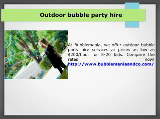 Los Angeles Best bubble party