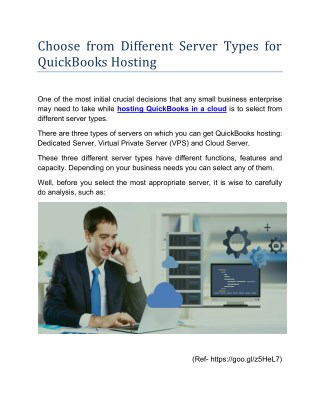 Choose from Different Server Types for QuickBooks Hosting