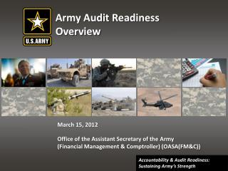 Army Audit Readiness Overview