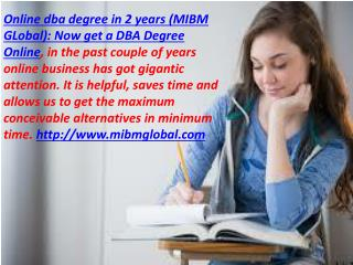 Online dba degree in 2 years-Now get a DBA Degree Online DELHI