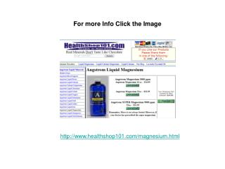Liquid Magnesium Supplement