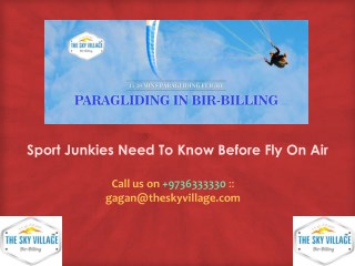 Sport Junkies Need To Know Before Fly On Air