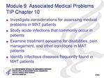 Module 9: Associated Medical Problems  TIP Chapter 10