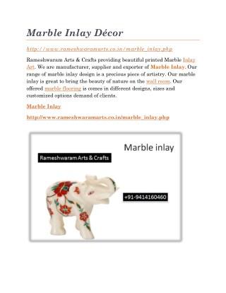 Marble Inlay Décor