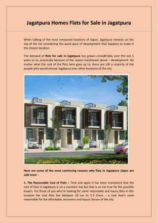 Jagatpura Homes Flats for Sale in Jagatpura