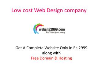 Cheap Website Design Company India, Website@2999, $79 |Free Domain|Free Hosting