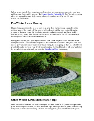 How to Prepare Your Lawn and Landscape for Winter