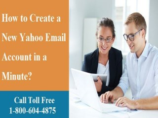 How to Create a New Yahoo Email Account? 1800-604-4875 for Help