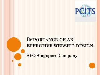 Importance of an effective website design