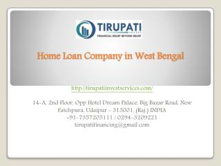 Home Loan Company in West Bengal