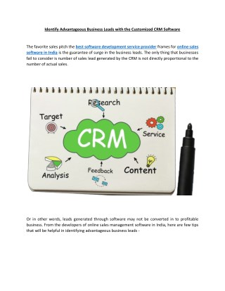 Customized CRM Software   Customer Relationship Management Software