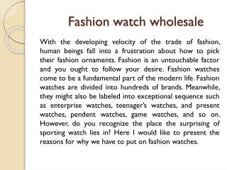 Fashion watch wholesale