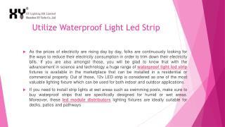 Utilize Waterproof Light Led Strip