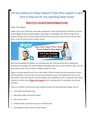 Are you looking for Skype support???