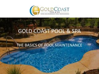 The Basics of Pool Maintenance