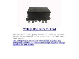 Voltage Regulator for Ford