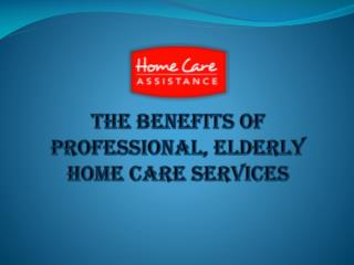 The Benefits of Professional, Elderly Home Care Services