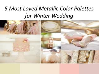 5 most loved wedding color palette