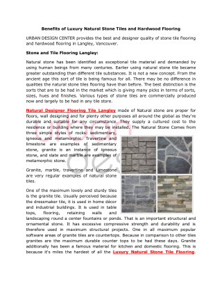 Buy Luxury Natural Stone Tiles and Hardwood Flooring
