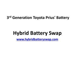 3rd Generation Toyota Prius Battery