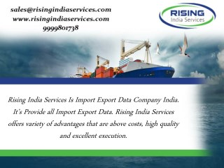 Export Import Data India Is Best For Business