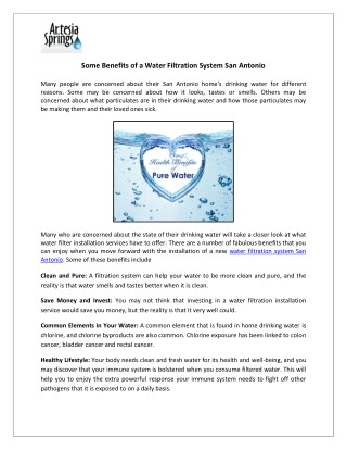 Best Performing Whole House Water Filtration System San Antonio