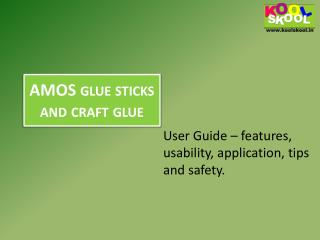Buy AMOS glue sticks and craft glue from KOOLSKOOL