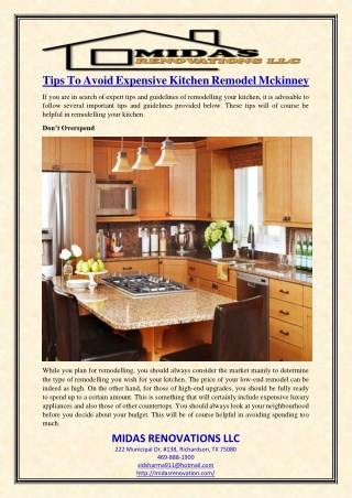 Tips To Avoid Expensive Kitchen Remodel Mckinney
