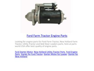 Ford Farm Tractor Engine Parts