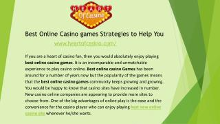 Best Online Casino games Strategies to Help You