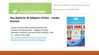 Buy Electrical Products Online at Landys Chemist UK