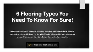 6 Flooring Types You Need To Know For Sure!