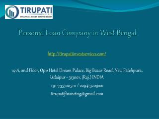 Personal Loan Company in West Bengal