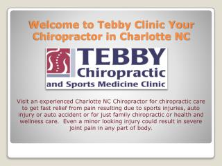 Best Chiropractic & Sports Medicine Clinic in Charlotte NC