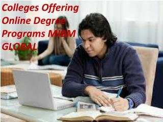 Colleges Offering Online Degree Programs on online MBA course.