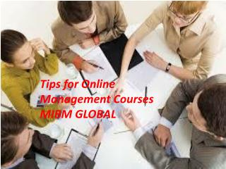Tips for Online Management Courses in Noida