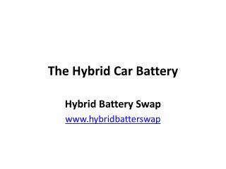 The Hybrid Car Battery