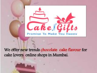 Order your chocolate flavour cake any time online in Mumbai